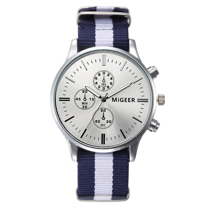 monnre 2016 brand wrist watches striped canvas