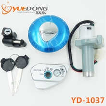 YUEDONG 125cc Motorcycle spare parts whole vehicle of lock set 3pcs main switch kit ignition switch 2 KEYS with anti-theft Head(China (Mainland))