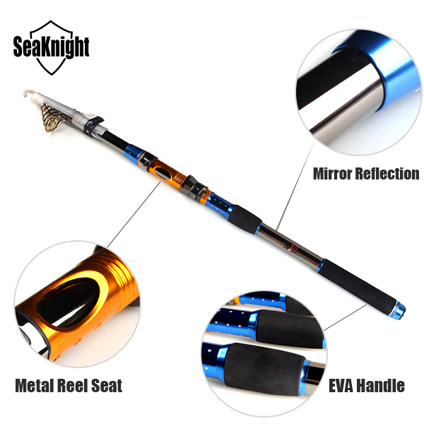 Luxury Universal Carp Telescopic Lure Spinning Fishing Rod Carbon Creative gif for father husband 2.1 2.4 2.7 3.0 m(China (Mainland))