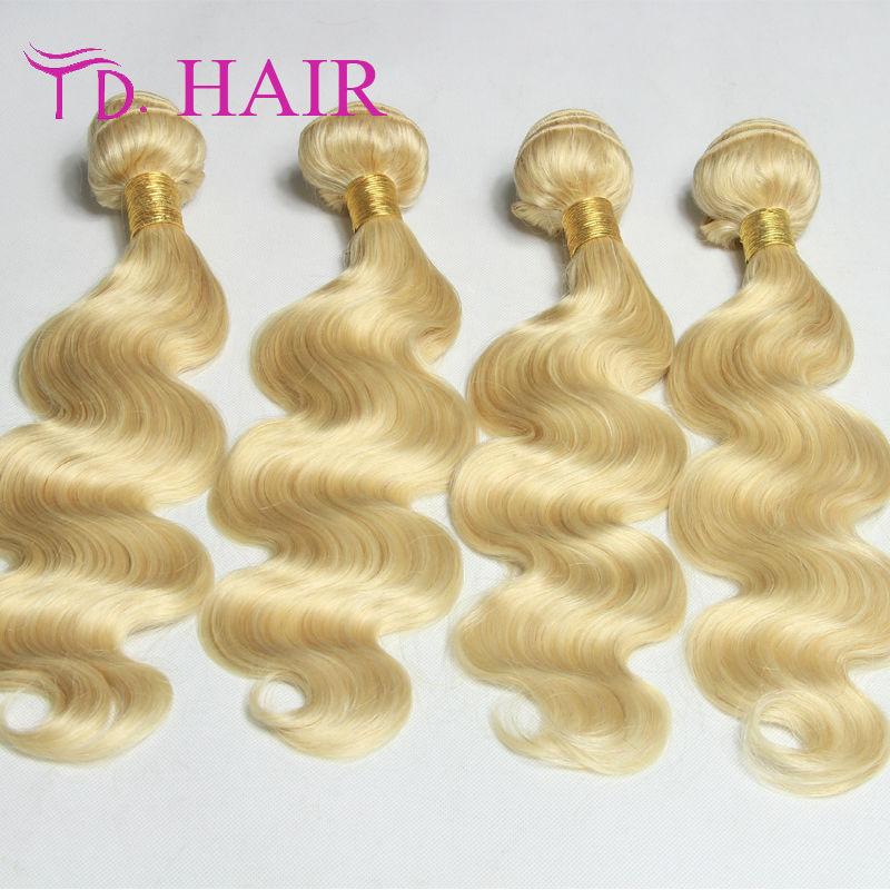Hot selling Brazilian virgin hair body wave 3pcs/lot braizlian body wave 613 blond virgin hair brazilian hair weave bundles .