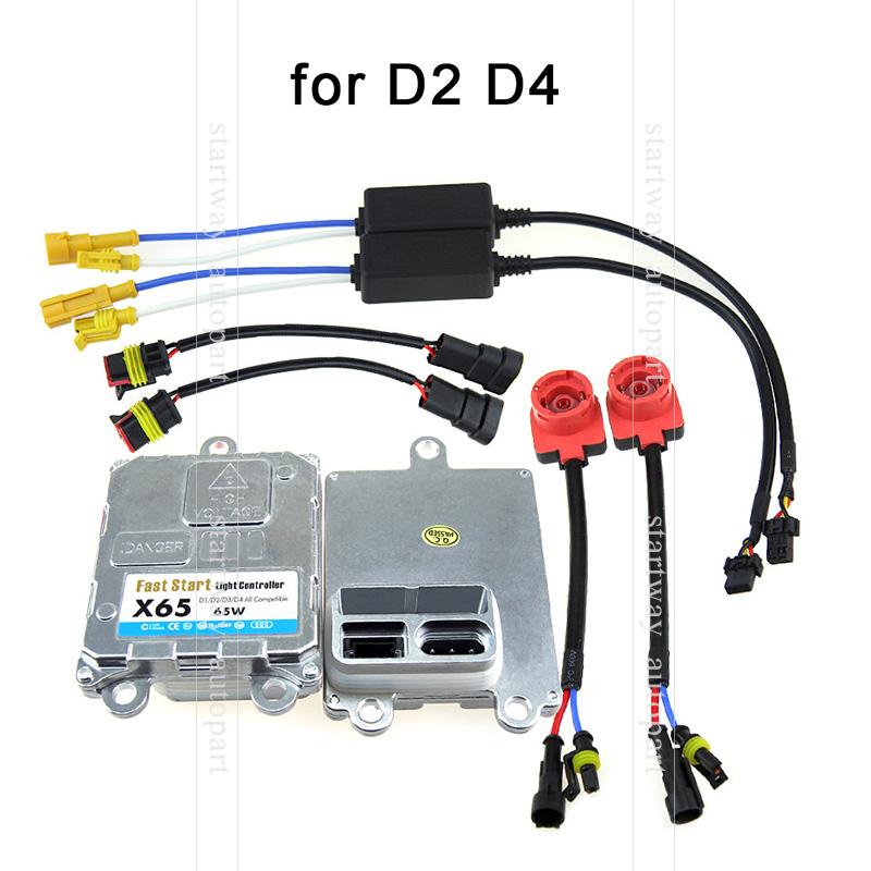 2 pcs OEM HID Xenon Ballast 65W Car Computer Replacements HID DOT Fit for hid D2(D2S D2R D2C) D4(D4S D4R D4C)(China (Mainland))