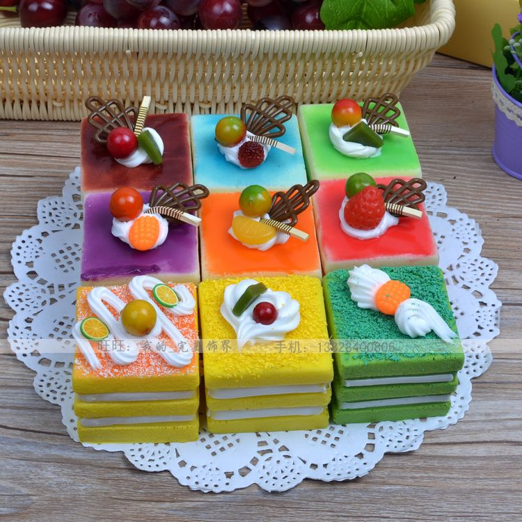 free shipping artificial cake model fake mousse cake toy photography props decoration kitchen cabinet decoration(China (Mainland))