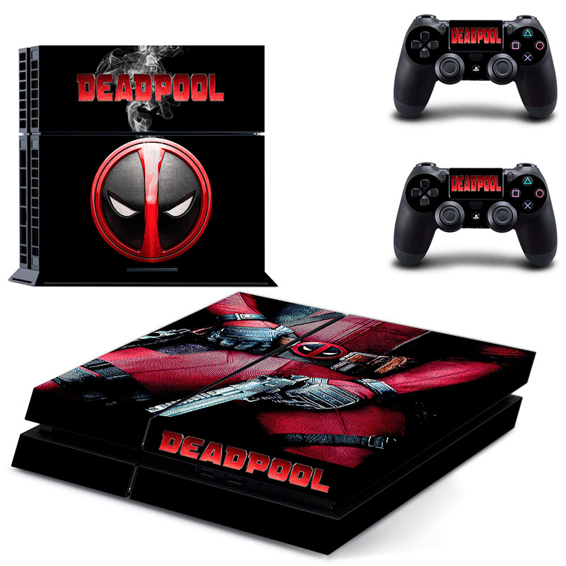 Deadpool Vinyl Decal PS4 Skin Stickers Wrap for Sony PlayStation 4 Console and 2 Controllers Decorative Skins(China (Mainland))