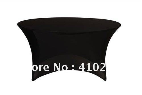 """Lycra table cloth Spandex 5ft Round Table Cover Black\Spandex lycra table cover 60"""" round table with 30"""" height(China (Mainland))"""