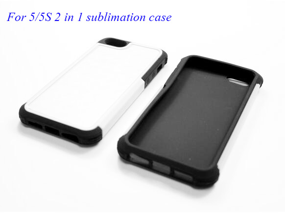 PC+TPU 2-in-1 DIY Best JC Brand Sublimation Blank Phone Case for iPhone 5/5s,100pcs/lot(China (Mainland))
