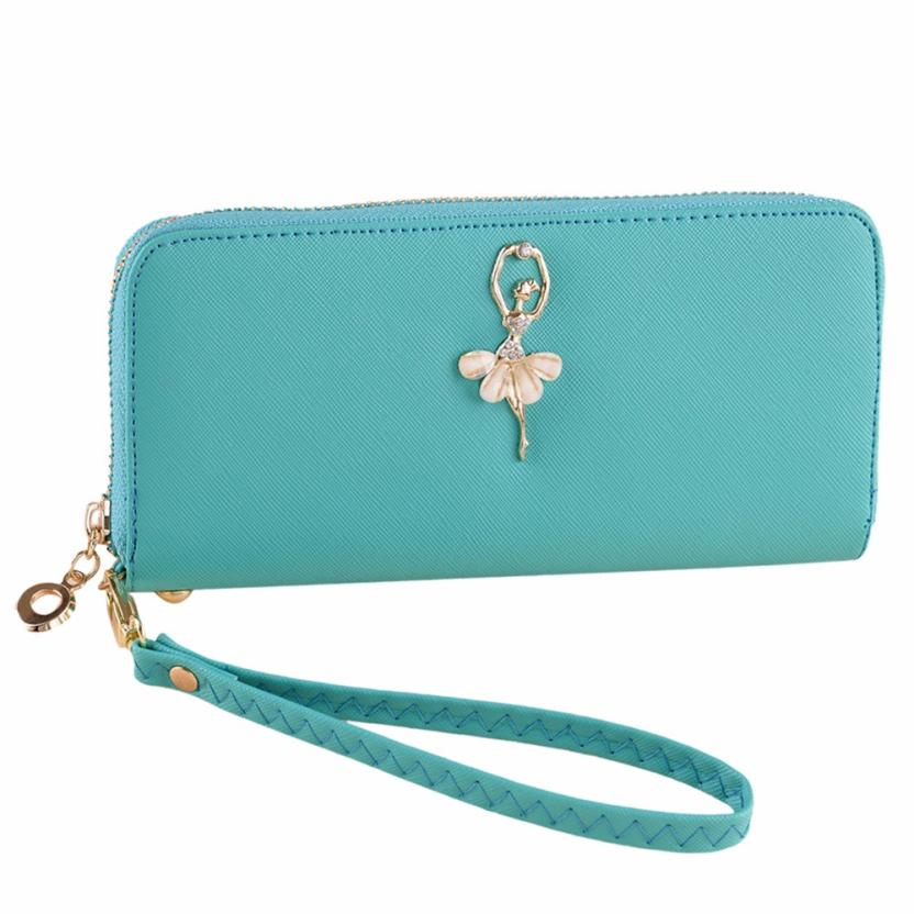 designer wallets famous brand women wallet 2016 pu leather women clutch purse candy color femle womens luxury purses card holder(China (Mainland))