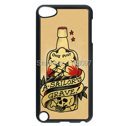 Free shipping SAILOR JERRY TATTOO VINTAGE RETRO Design for IPOD TOUCH 5 HARD PLASTIC Phone Case Cover(China (Mainland))