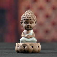 Ceramic Buddha Incense Burner Porcelain Figurine Quemador Incienso Cone Incense Censer Home Decoration Art Collection(China (Mainland))