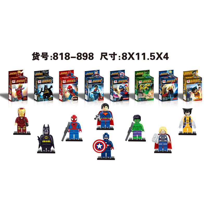Super Heroes Avengers Batman Minifigure Action Figures Model Building Block Brick Toy Same &amp; SY180 baby toys free shipping<br><br>Aliexpress