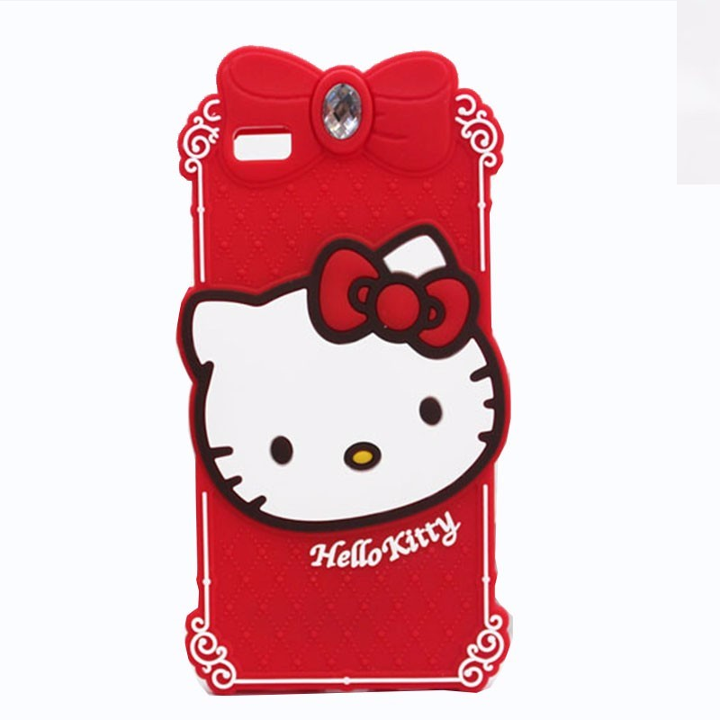 Luxury 3D Cubierta Fudas Para Hello Kitty Phone Cases Cover for iPhone 5 5s SE 6 6s 6 6s Plus Soft Cartoon silicone Coque Cover