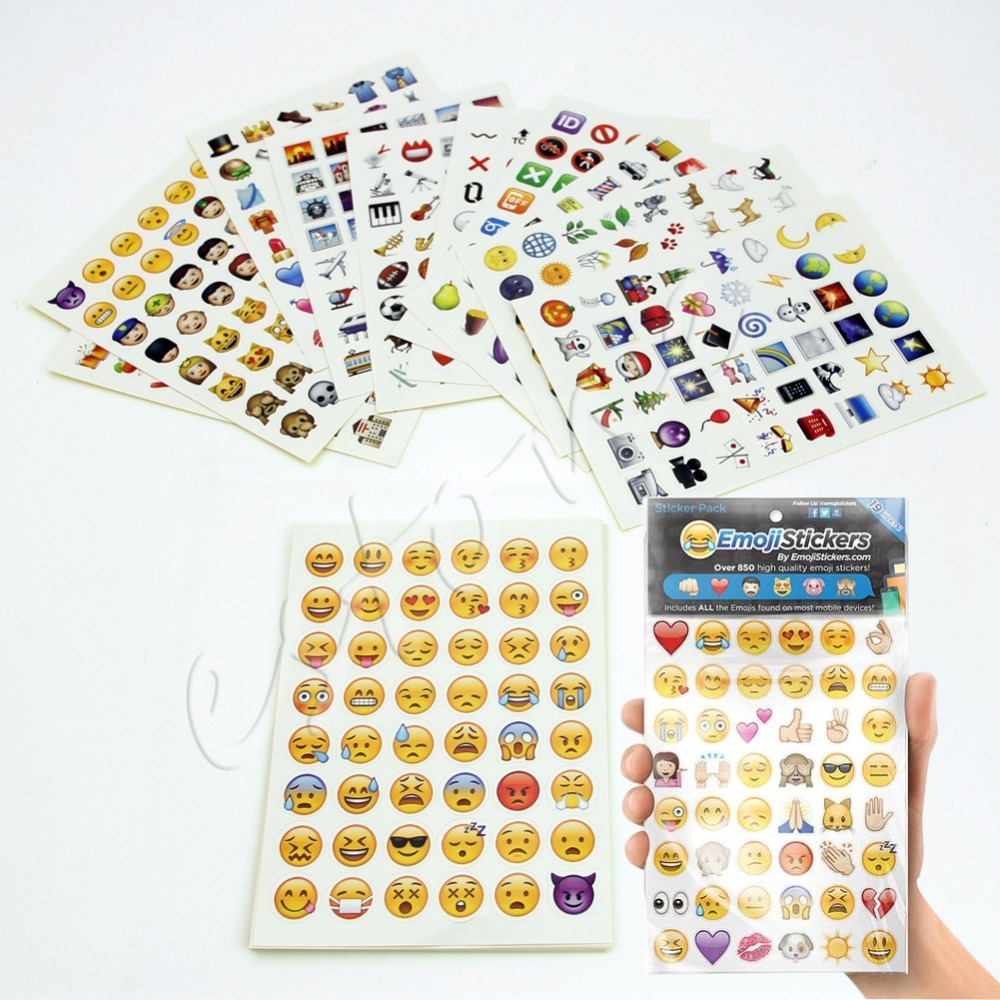 Гаджет  free shipping Emoji Sticker Pack 912 Die Cut Stickers For iPhone Twitter Large Viny Instagram None Игрушки и Хобби