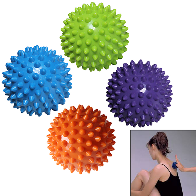 PVC Massage Balls Relax Relieve Fatigue Fitness Gym Training Massage Lacrosse Ball Body Pain Relief(China (Mainland))