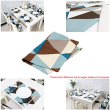 Modern Geometric Pattern Table Mat Cotton Slip-resistant Tableware Placemat Dish Bowl Weave Insulation-proof Pad(China (Mainland))