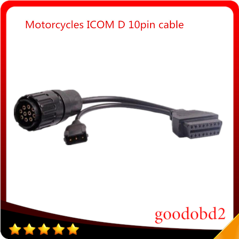 For BMM ICOM Interface D Module Motorcycles Diagnostic ICOM-D 10pin OBD OBDII Adaptor OBD2 Tool 10 Pin ICOM D Cable to 16pin(China (Mainland))