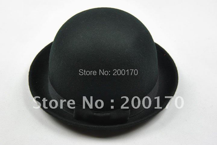 Wholesale free shipping English wool party bowler hats Fashion design and style for you take in the party Holiday Hats(China (Mainland))