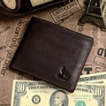 Coffee genuine Leather men Wallets cowhide men purse short size cow leather wallets man card