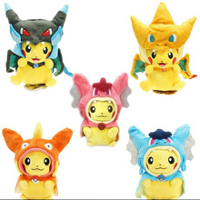 Pokemon Plush toys Pikachu Cosplay Mega Charizard Cotton Stuffed Animals Dolls Children Toys Movie Tv kids Christmas Gifts(China (Mainland))