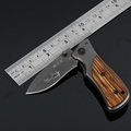 Jeslon BUCK X35 Folding Survival Knife 57HRC Small Cuttlefish Camping Multi Tools 3CR13 Pocket Knives Aluminum
