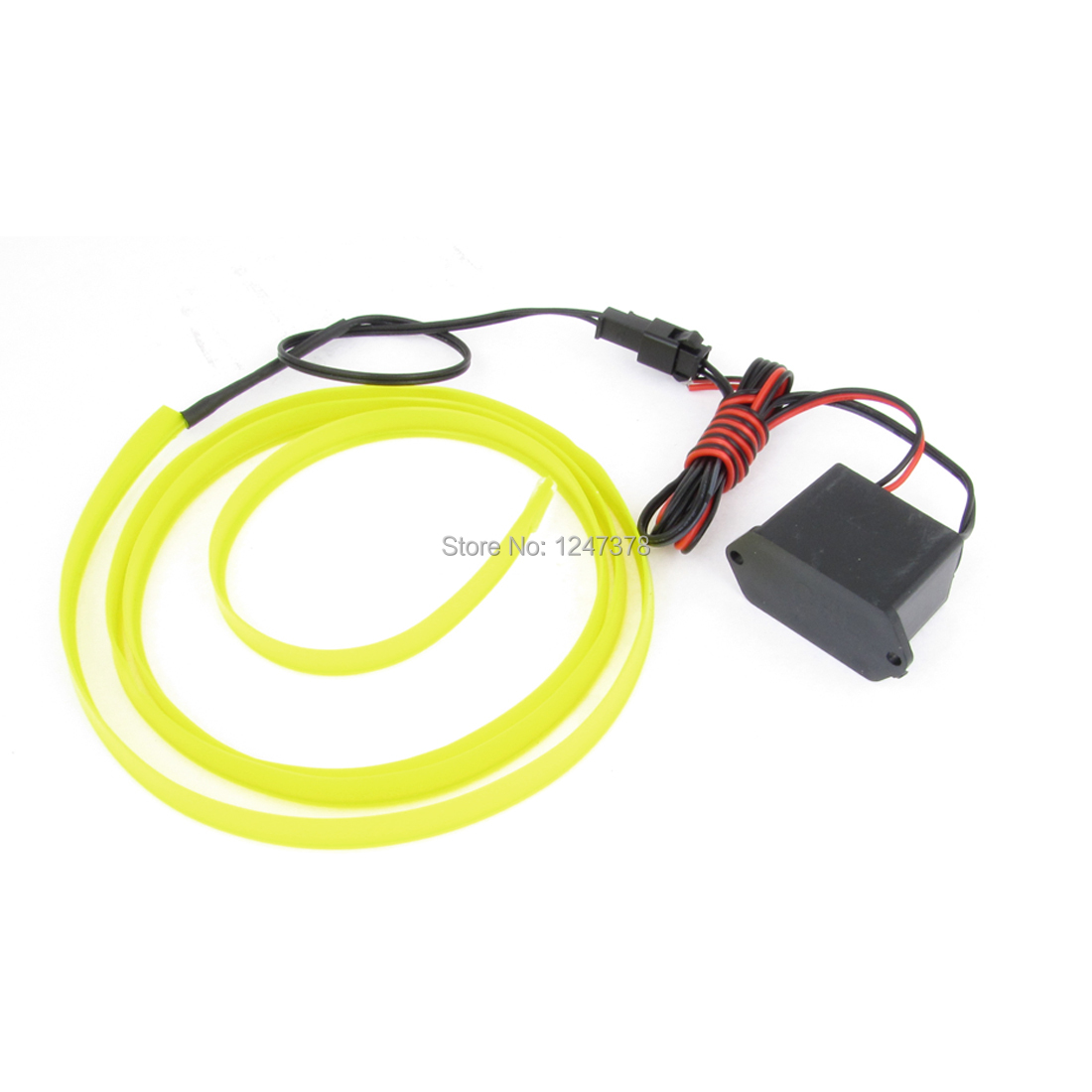 1 Meter Long 8mm Width Plastic Yellowgreen EL Wire Neon Light Rope for Car 1 Piece Decoration Discount 50(China (Mainland))