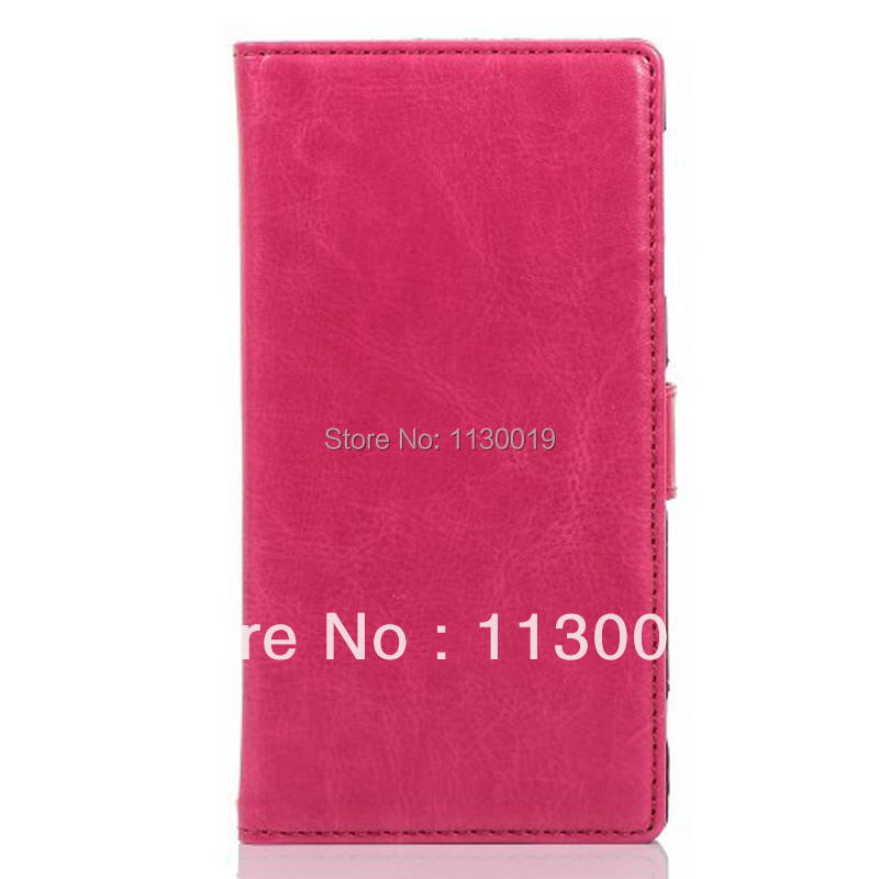 Fine Sheep Lines Leather Case for Sony XPeria Z1 L39H, with credit card slots and stand, Free shipping, Free Screen Film(China (Mainland))
