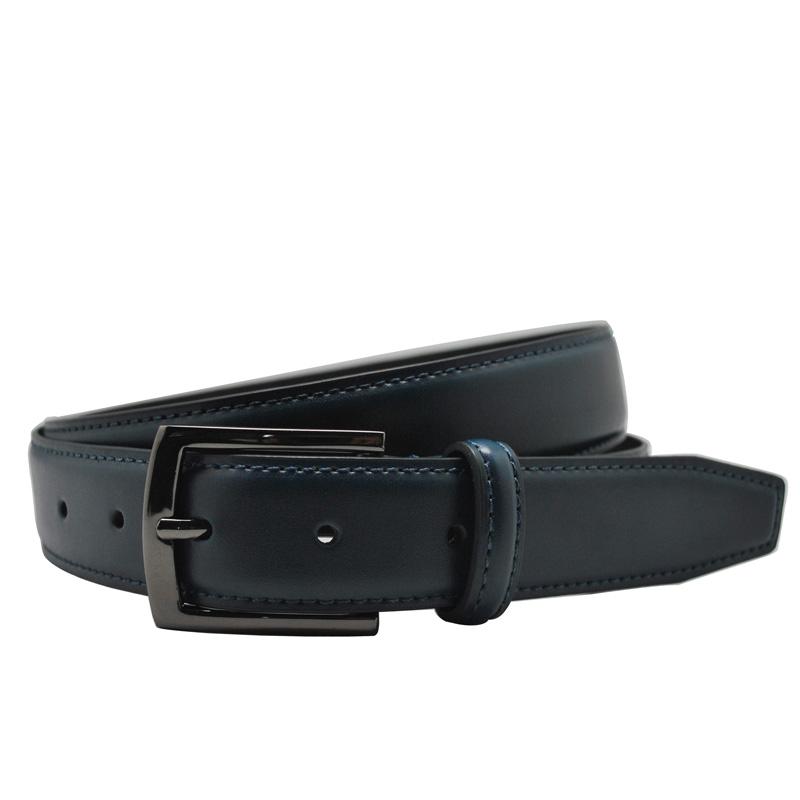 get cheap mens navy blue leather belt aliexpress