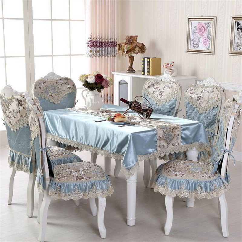 European Luxury Table Cloth Embroidered Tablecloth to Table Jacquard Fabric Furniture Cover Polyester Home Textile Table Cover(China (Mainland))