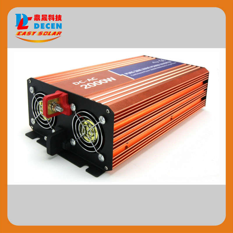 12VDC 2000W Grid Tie Pure Sine Wave Solar or wind inverter for solar power system,120/220VAC, 50/60Hz Two year Warranty(China (Mainland))