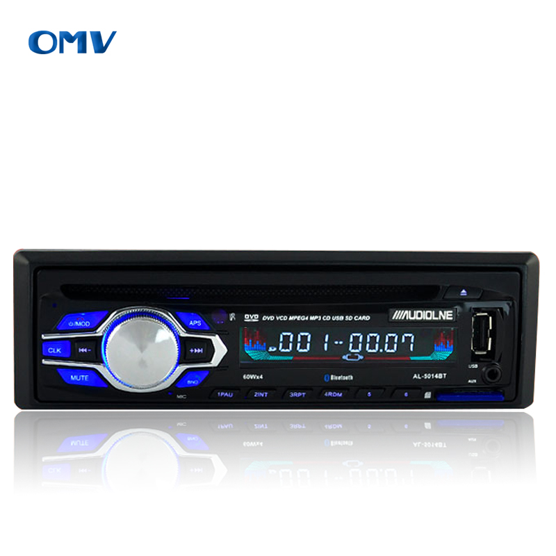 1 Din high power car CD DVD player bluetooth car mp3 player FM radio host In dash headunit Universal fix panel(China (Mainland))