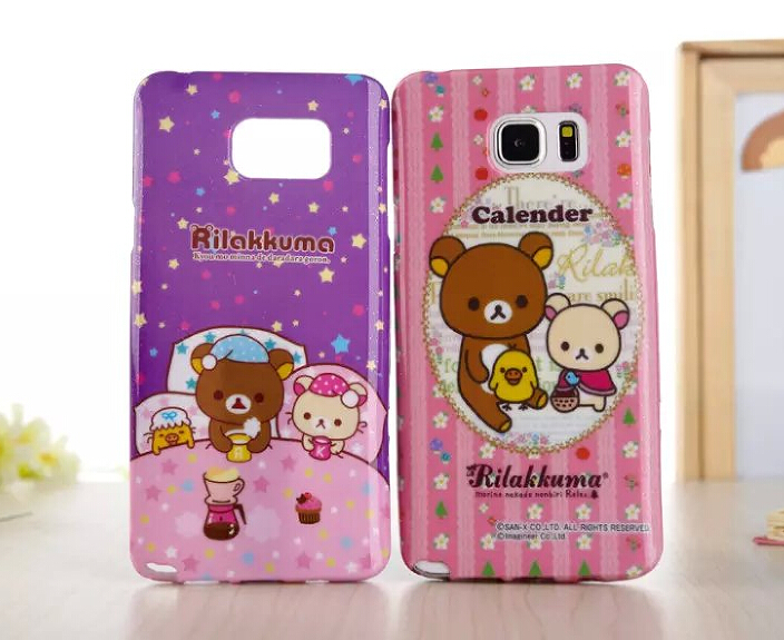 For S7 edge case Cute Bear Hello kitty case For Samsung galaxy Note 5 note 4/3 S6 S7 edge Cartoon TPU Silicone phone case cover(China (Mainland))