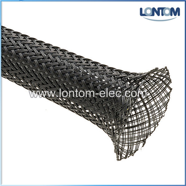 Фотография 45 mm 100M PET Braided Expandable Auto Wire Cable Sleeve High Quality Black