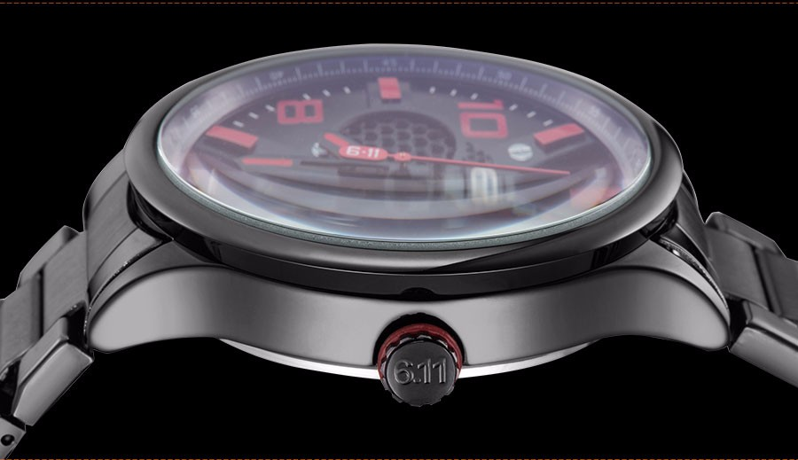 6.11 мужская мода спорт кварцевые часы новый бренд скелет солнечных батареях наручные часы стальной ленты 30 М Водонепроницаемый relogio masculino