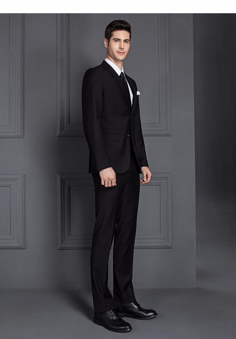 HTB1oFpDPXXXXXbgXpXXq6xXFXXXh - 2017 Men Business Suit Slim fit Classic Male Suits Blazers Luxury Suit Men Two Buttons 2 Pieces(Suit jacket+pants)