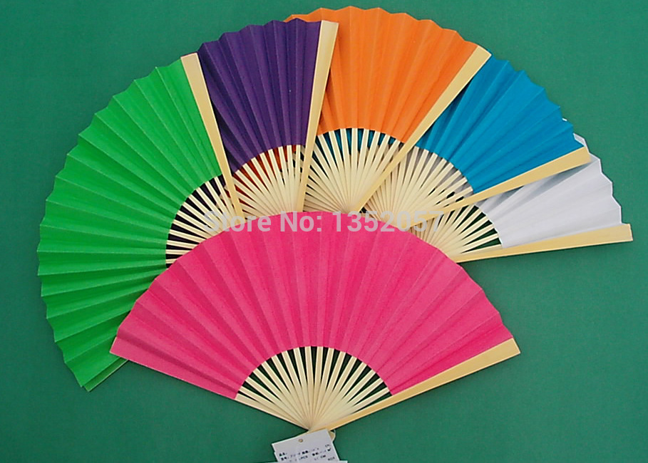 2015 New Arrived Folding Elegant Paper Hand Fan Wedding&Party Decoration Favors 23cm(China (Mainland))