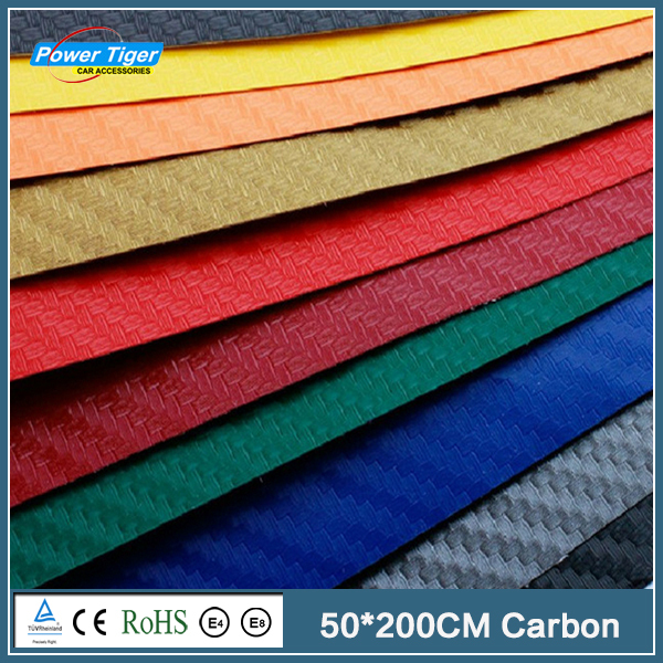 50*200CM Car Styling Waterproof Car Sticker 3D 3M Carbon Fiber Vinyl Film 9 Colors Option With Retail Packing(China (Mainland))