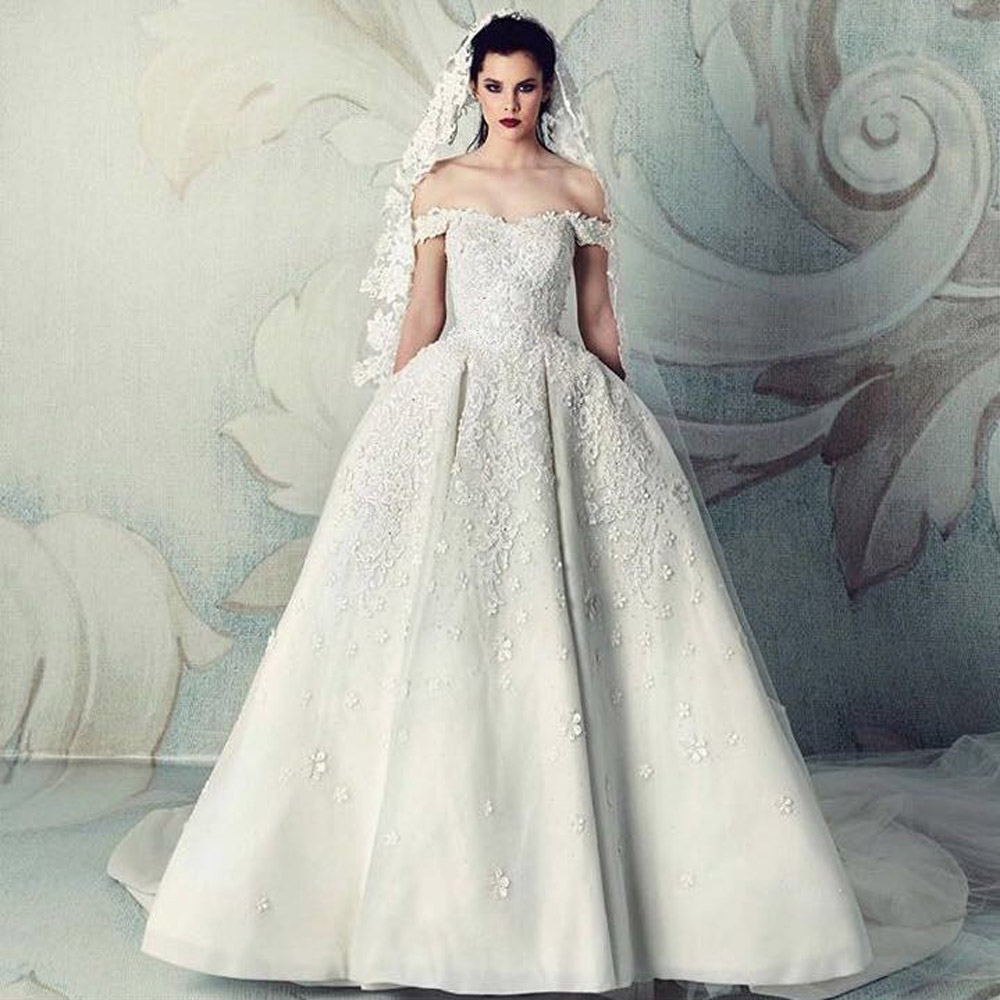 Wedding Gown Sale Online: Saudi Arabia New Sweetheart Ball Gown Ivory Wedding