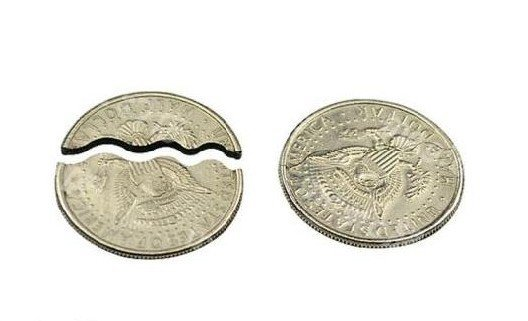 Bite and Restore Coin Biting/Folding Coin/magic tricks/magic props/magic toys