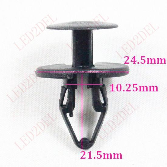 1041 Auto Nylon Fastener Clip Bumper Push-Type Retainer Exterior Body Rivet (100pcs) - LED2DEL store