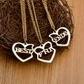 Fashion 3 pcs Set Heart Shaped Best Friends Necklace friendship Pendant Necklace Friend Gift Collar Necklace
