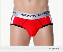 AC andrew christian men's underwear sexy fashion brand cueca mens transparent underwear cotton briefs(China (Mainland))