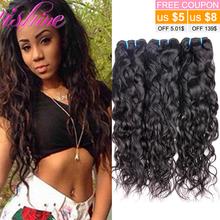Brazilian Virgin Hair Water Wave 3 Pcs/Lot Brazilian Ali Moda Wet And Wavy Brazilian Water Wave Human Hair Weave Bundles