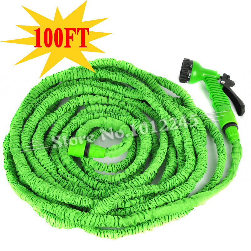 100 ft garden hose 100ft retractable flexible expandable hose 100 ft garden high quality 25ft Expandable garden hose 100 ft