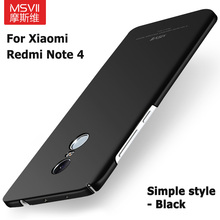 "Buy 100% Original MSVII luxury Case Xiaomi redmi note 4 prime hard PC scrub Back cover xiomi redmi note4 pro cases 5.5"" for $4.49 in AliExpress store"