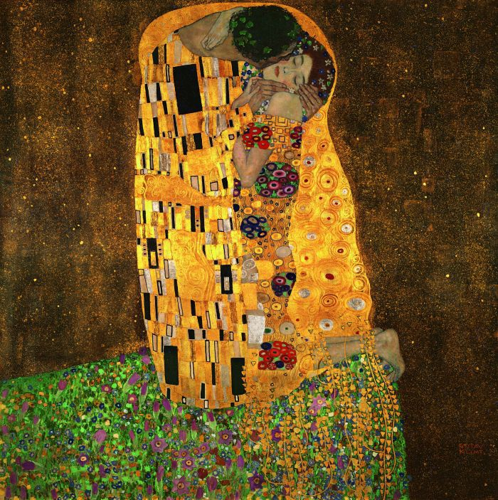 P015 Gustav Klimt printed oil painting on canvas wall art prints picture for living room home decor or hotel free shipping(China (Mainland))