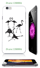 Flamingo heart retail hybrid white Mobile Phone hard cover cases for iphone 6plus/6s plus 5.5inch free shipping