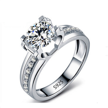 S925 Hollow Wedding Ring white gold plated engagement cz diamond jewelry for women AAA zircon accessories bijouterie MSR066