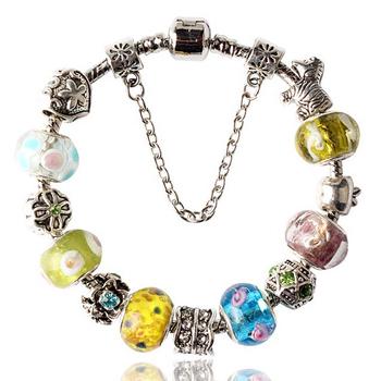 2015 новый 4 стиль европейский шарм браслеты для женщин мода посеребренные ромашки ...