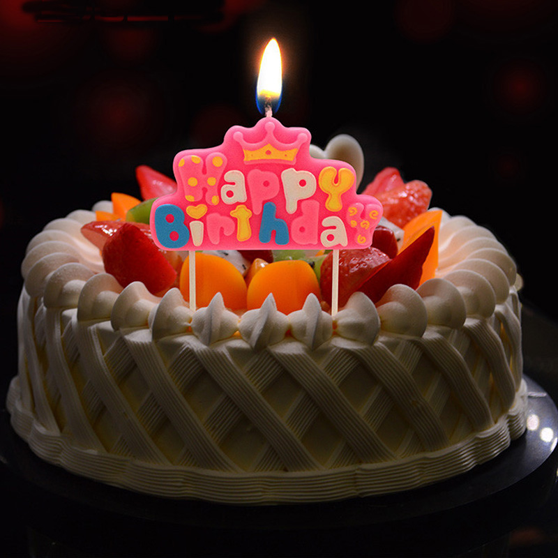 Happy Birthday Princess Cake With Candles ~ Crown candles promotion shop for promotional