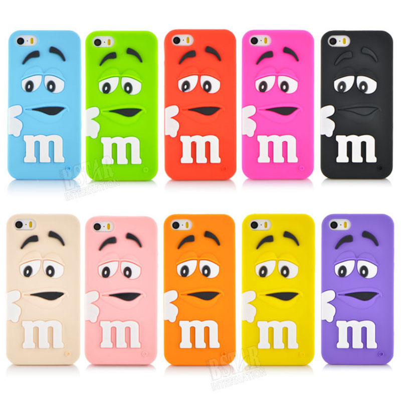 2015 New style 10 colors cartoon Soft silicon rubber material Protecter Cover case iphone 5 5s iphone5 - RobotSky Official Electronic Store store