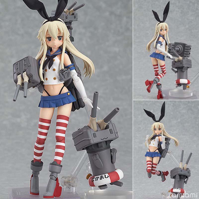 15CM PVC Figma 214 Action Figure Anime Ship Fleet Collection Island Wind Gun Sauce Kan Kantai Collection Shimakaze Toys<br><br>Aliexpress
