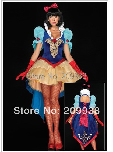 Snow White Costume Classic Snow White and the Seven Dwarfs Costumes(China (Mainland))